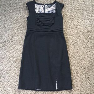 WHBM black cap sleeve dress / size 10